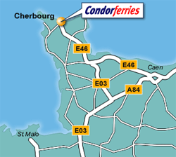 Cherbourg Ferry Port Map
